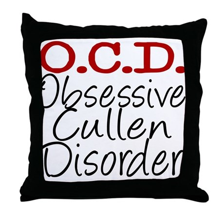 OCD Throw Pillow