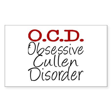 OCD Rectangle Sticker