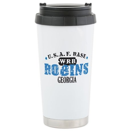 Robins Air Force Base Stainless Steel Travel Mug