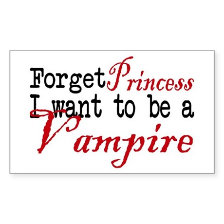 Forget Princess Rectangle Sticker