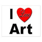 I Love Art Small Poster