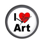 I Love Art Wall Clock
