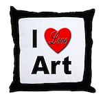 I Love Art Throw Pillow