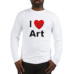 I Love Art (Front) Long Sleeve T-Shirt
