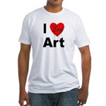 I Love Art (Front) Fitted T-Shirt