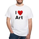 I Love Art (Front) White T-Shirt