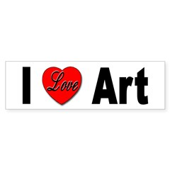 I Love Art Bumper Bumper Sticker