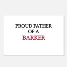 Proud Father Of A BARKER Postcards (Package of 8)