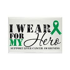 Liver Cancer Hero Rectangle Magnet