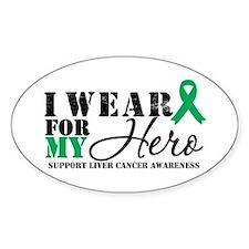Liver Cancer Hero Oval Sticker (10 pk)