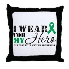 Liver Cancer Hero Throw Pillow