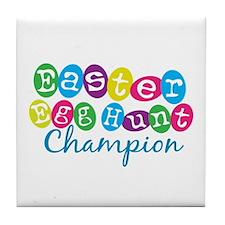 Easter Egg Hunt Champ Tile Coaster
