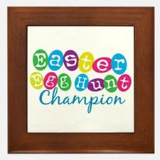 Easter Egg Hunt Champ Framed Tile