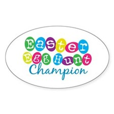 Easter Egg Hunt Champ Oval Decal
