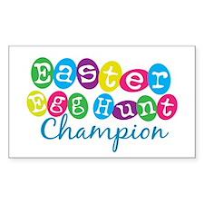 Easter Egg Hunt Champ Rectangle Decal