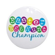 Easter Egg Hunt Champ Ornament (Round)