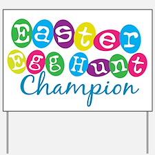 Easter Egg Hunt Champ Yard Sign
