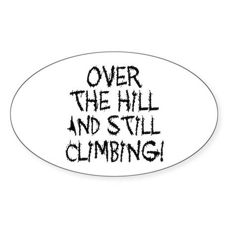 Still Climbing Oval Sticker