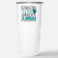 Needs A Cure OVARIAN CANCER Travel Mug