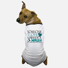 Needs A Cure OVARIAN CANCER Dog T-Shirt