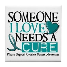 Needs A Cure OVARIAN CANCER Tile Coaster