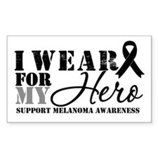 Melanoma Hero Rectangle Stickers