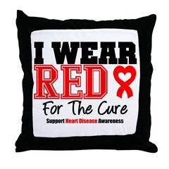 I Wear Red For The Cure Throw Pillow