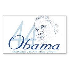 44th President Rectangle Decal