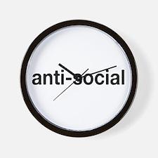 Cute Anti social Wall Clock