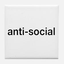 Cute Anti social Tile Coaster