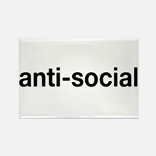 Cute Anti social Rectangle Magnet