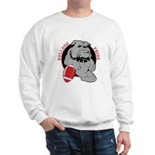 Bulldog Maroon Black Sweatshirt