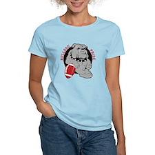 Bulldog Maroon Black T-Shirt