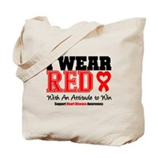 I Wear Red to Win Tote Bag
