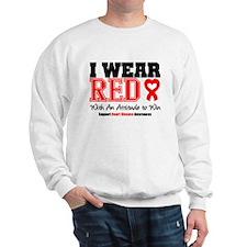 I Wear Red to Win Sweatshirt