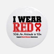 I Wear Red to Win Ornament (Round)