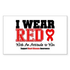 I Wear Red to Win Rectangle Decal
