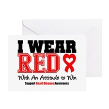I Wear Red to Win Greeting Card