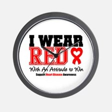I Wear Red to Win Wall Clock