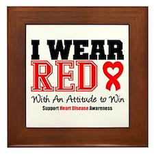 I Wear Red to Win Framed Tile