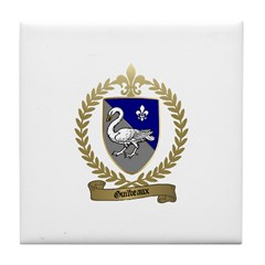 GUILBEAUX Family Crest Tile Coaster