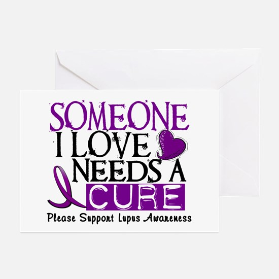 Needs A Cure LUPUS Greeting Cards (Pk of 10)