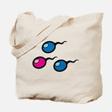 Colorful Sperm Tote Bag