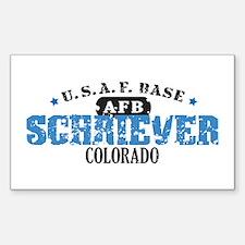 Schriever Air Force Base Rectangle Sticker 10 pk)