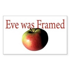 Eve was Framed Rectangle Decal