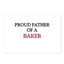 Proud Father Of A BAKER Postcards (Package of 8)