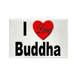 I Love Buddha Rectangle Magnet (10 pack)