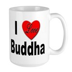I Love Buddha Large Mug
