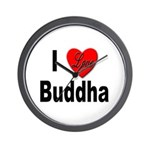 I Love Buddha Wall Clock