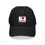 I Love Buddha Black Cap